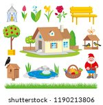 garden icon tool set cartoon... | Shutterstock . vector #1190213806