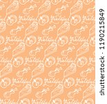 grateful seamless pattern with... | Shutterstock .eps vector #1190215849