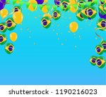 festival celebrated brazilian... | Shutterstock .eps vector #1190216023
