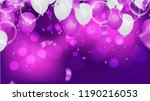 fuchsia metallic baloons on the ... | Shutterstock .eps vector #1190216053