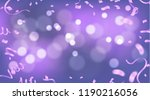fuchsia metallic baloons on the ... | Shutterstock .eps vector #1190216056