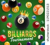 billiards game tournament ... | Shutterstock .eps vector #1190221513