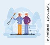 old people sport activities....   Shutterstock .eps vector #1190223349