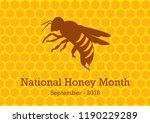 National Honey Month Vector....