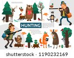 flat hunting infographic... | Shutterstock .eps vector #1190232169