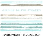 blue grey ink brush strokes... | Shutterstock .eps vector #1190232550