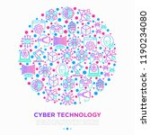 cyber technology concept in... | Shutterstock .eps vector #1190234080