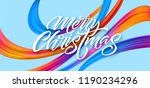 merry christmas hand drawn... | Shutterstock .eps vector #1190234296