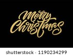 merry christmas gold glitter... | Shutterstock .eps vector #1190234299