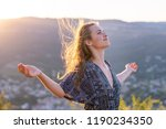 christian worship and praise. a ... | Shutterstock . vector #1190234350