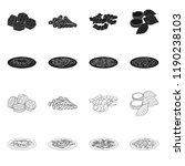 vector illustration of pasta... | Shutterstock .eps vector #1190238103