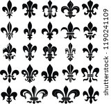 heraldry  set | Shutterstock .eps vector #1190241109