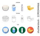 milk  calcium  product  food ... | Shutterstock . vector #1190244466