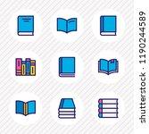 vector illustration of 9 book... | Shutterstock .eps vector #1190244589