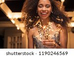 portrait of young african girl... | Shutterstock . vector #1190246569