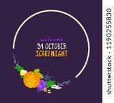 halloween theme card ...   Shutterstock .eps vector #1190255830