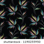 seamless colorful floral pattern | Shutterstock .eps vector #1190255950