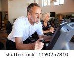 active senior couple exercising ...   Shutterstock . vector #1190257810