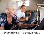 active senior couple exercising ...   Shutterstock . vector #1190257813