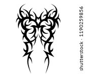 tribal pattern tattoo art ... | Shutterstock .eps vector #1190259856