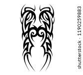 tattoo art tribal pattern... | Shutterstock .eps vector #1190259883