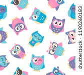 background with owls   Shutterstock .eps vector #1190260183