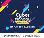 get 30  cashback on cyber... | Shutterstock .eps vector #1190264533