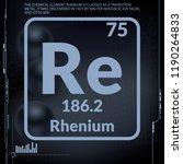 rhenium symbol.chemical element ...   Shutterstock .eps vector #1190264833