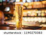 craft beer in glass with blurry ... | Shutterstock . vector #1190270383