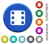 domino six round color beveled...   Shutterstock .eps vector #1190275819