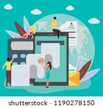 good and service tax  gst ... | Shutterstock .eps vector #1190278150