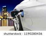 ev car or electric car at... | Shutterstock . vector #1190280436