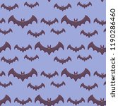 seamless pattern with bats on... | Shutterstock .eps vector #1190286460