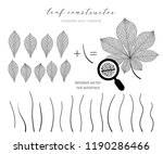 big collection of vector branch ... | Shutterstock .eps vector #1190286466
