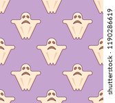 seamless pattern with ghost on... | Shutterstock .eps vector #1190286619