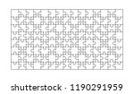 120 white puzzles pieces... | Shutterstock .eps vector #1190291959