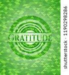gratitude green emblem with... | Shutterstock .eps vector #1190298286