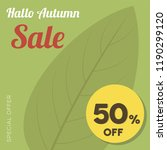autumn banner set. colorful... | Shutterstock .eps vector #1190299120