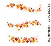 vector set of autumn leaves   Shutterstock .eps vector #1190302753
