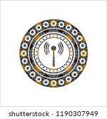 antenna signal icon inside... | Shutterstock .eps vector #1190307949