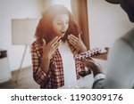 young afro american couple date.... | Shutterstock . vector #1190309176