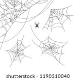 spiderweb vector illustration... | Shutterstock .eps vector #1190310040