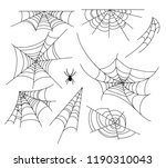 spiderweb vector illustration... | Shutterstock .eps vector #1190310043