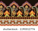 seamless bright border with... | Shutterstock .eps vector #1190312776