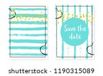 bridal shower set with dots and ... | Shutterstock .eps vector #1190315089