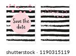 bridal shower card with dots... | Shutterstock .eps vector #1190315119