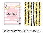 bridal shower set with dots and ... | Shutterstock .eps vector #1190315140