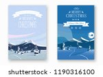 set of happy new year and merry ... | Shutterstock .eps vector #1190316100