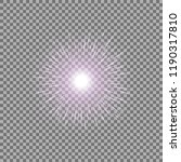 sunlight with lens flare effect ... | Shutterstock .eps vector #1190317810