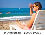 cute beautiful young woman...   Shutterstock . vector #1190319313